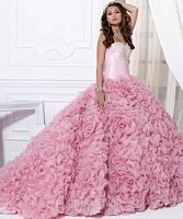 Quinceanera by House of Wu Ruffle Rose Ball Gown 26702 image