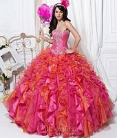 Size 2 Fuchsia Quinceanera Collection Dress 26710 image