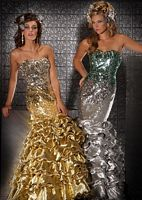 Mac Duggal Prom Metallic Look Mermaid Prom Dress 2691M image