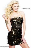 Sherri Hill Sexy and Edgy Sequin Cocktail Dress 2751 image