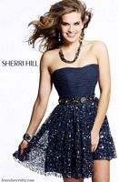 Sherri Hill Navy Blue Short Homecoming Party Dress 2759 image