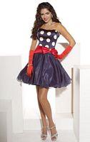 Hannah S Short Polka Dot Organza Prom  Dress 27602 image