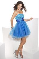 Hannah S Tulle Short Ball Gown Prom Dress 27625 image