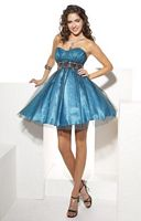 Hannah S Short Two Color Ball Gown Prom Dress 27636 image