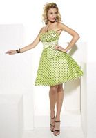Hannah S Polka Dot Short Tulle Prom Dress 27637 image
