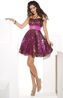 Hannah S Short All Over Sequin Prom Party Dress 27639 image