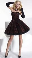Hannah S Flocked Metallic Party Dress 27658 by House of Wu image