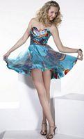 Hannah S Short Print Homecoming Party Dress 27673 image
