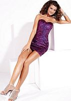 Hannah S Short Sequin Slim Prom Dress 27681 image