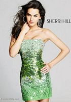 Sherri Hill Strapless Short Prom Party Dress 2771 image