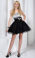 Hannah S Glitter Tulle Short Party Dress 27729 image