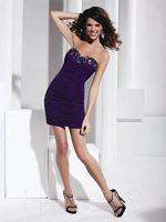 Hannah S 27769 Shirred Jersey Cocktail Dress image