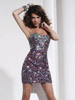 Hannah S 27781 Cocktail Dress with Colorful Sequins image