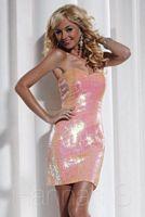 Hannah S 27787 Iridescent Short Party Dress image