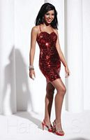 Hannah S 27788 Iridescent Cocktail Dress with Spaghetti Straps image