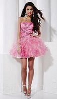 Size 2 Fuchsia-Pink Hannah S 27806 Short Party Dress image
