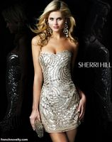 Sherri Hill All Over Beaded Cocktail Dress 2781 image