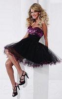 Hannah S 27811 Short Lace Up Back Party Dress image