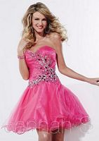Hannah S 27821 Short Glitter Tulle Party Dress image