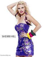 Sherri Hill Sequin Floral Design Short Prom Dress 2783 image