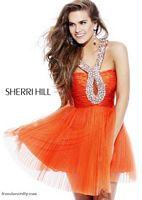 Sherri Hill Beaded Keyhole Short Prom Party Dress 2784 image