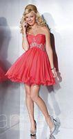 Hannah S 27847 Ruched Chiffon Short Dress image