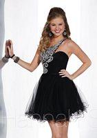 Hannah S 27853 One Shoulder Tulle Short Dress image