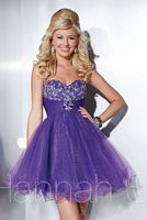 Hannah S 27856 Sparkle Tulle Short Party Dress image