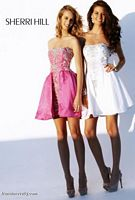 Sherri Hill Short Prom Dress with Beaded Applique 2786 image
