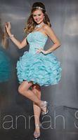 Hannah S 27866 Short Lace Ruffle Organza Party Dress image