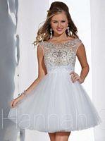 Hannah S 27867 Beaded Illusion Cocktail Dress image