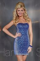 Hannah S 27868 Allover Sequin Cocktail Dress image