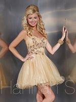Hannah S 27874 Beaded Tulle Short Party Dress image