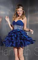 Hannah S 27875 Ruffle Chiffon Short Party Dress image