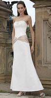 Alexia Designs Two Tone Strapless Satin Bridesmaid Dress 2800 image