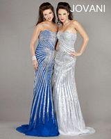 Jovani 2800 Beaded Print Mermaid Dress image