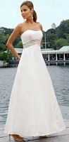Alexia Designs Two Tone Beaded Waistband Bridesmaid Dress 2810 image