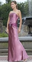 Alexia Designs Strapless Long Bridesmaid Dress with Shawl 2818 image