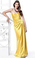 Dessy Matte Satin Faux Wrap Long Bridesmaid Dress 2820 image