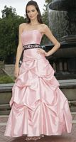 Alexia Designs Two Tone Bridesmaid Dress with Pickup Skirt 2822 image