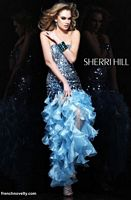 Size 2 Green Sherri Hill 2835 Ruffle Dress image