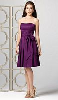 Dessy Collection Cocktail Length Bridesmaid Dress with Pockets 2857 image