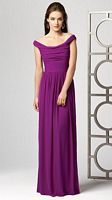 Dessy Collection Off the Shoulder Long Bridesmaid Dress 2859 image