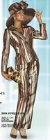 Lily and Taylor 2859 Silky Twill Pant Suit image