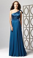 Dessy Collection One Shoulder Long Bridesmaid Dress 2861 image