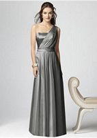 Dessy Collection One Shoulder Long Bridesmaid Dress 2863 image