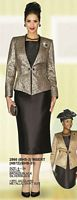 Lily and Taylor 3pc Metallic Church Suit 2866 image