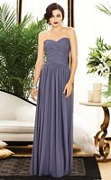 Size 6 Sapphire Dessy Collection 2880 Ruched Bridesmaid Dress image