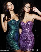 Sherri Hill Sequin Cocktail Dress 2892 for Prom 2012 image