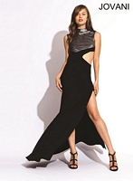 Jovani 2906 Jersey Gown with Cut Out Side image